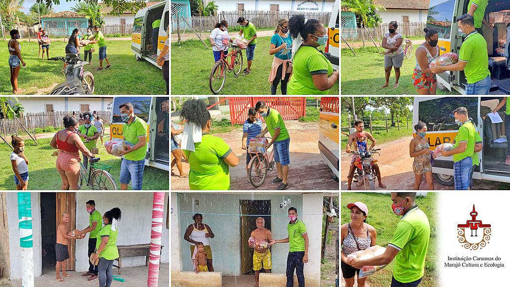 Caruanas doa cestas básicas para famílias dos alunos