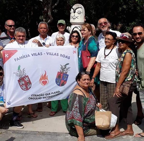 Visita da família Vilas Boas em homenagem à Dona Zeneida
